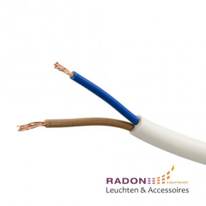 PVC Schlauchleitung weiss 2x0,75mm²