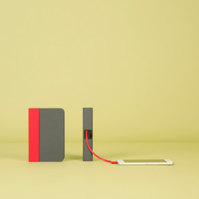 Mini Lumio+ Rot-Grau