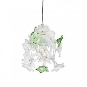Edo - Lampada con fiori bianco